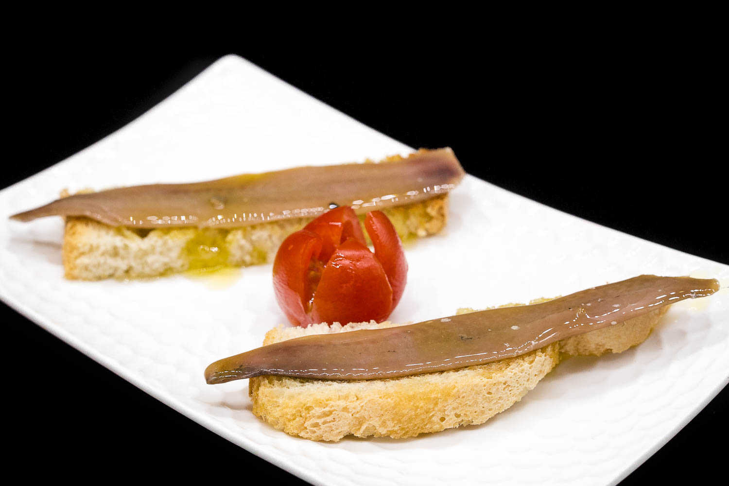 Cantabrian anchovies on bread