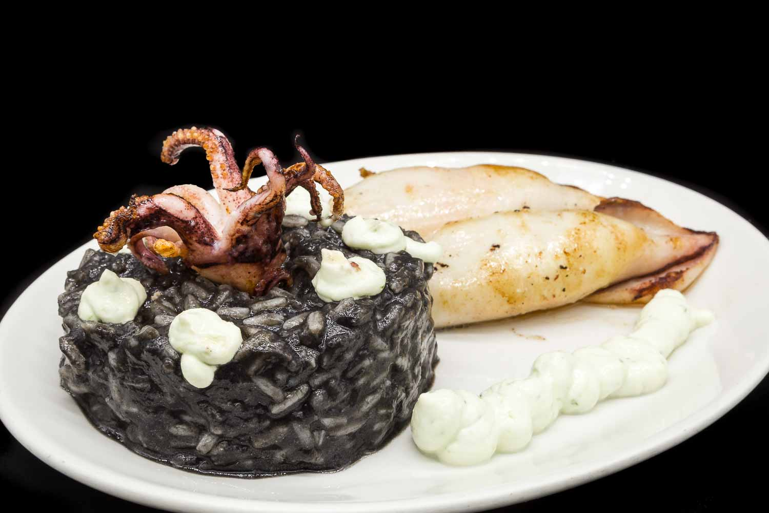 Rice, squid and mayonnaise