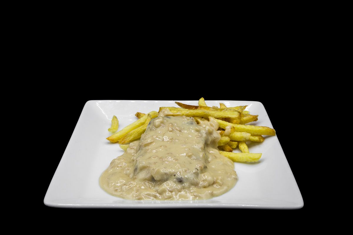 Russian fillet with almond sauce