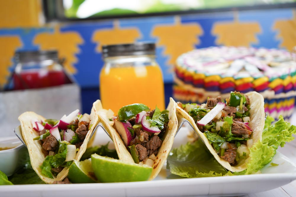 Chicken, Beef or Pork Belly Meat Tacos in Corn Tortilla